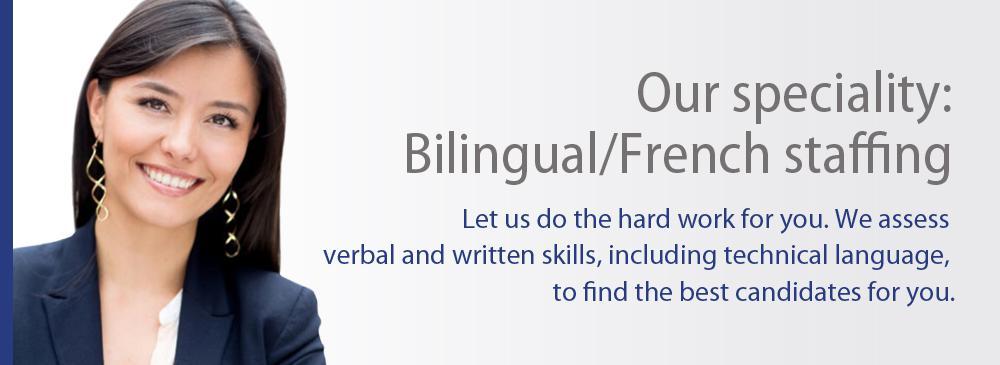 Bilingual/French staffing